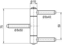simonswerk baka einbohrband c 1 15. Black Bedroom Furniture Sets. Home Design Ideas